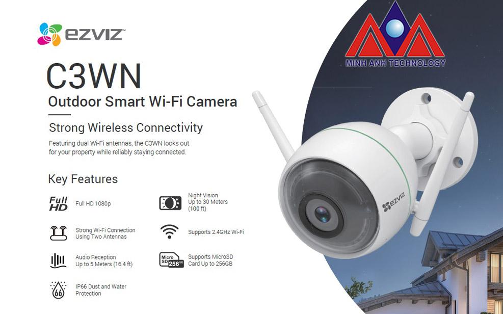 Camera quan sát ngoài trời EZVIZ C3WN Full HD1080
