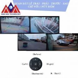 Camera 360 độ mini quan sát 4 hướng quanh xe