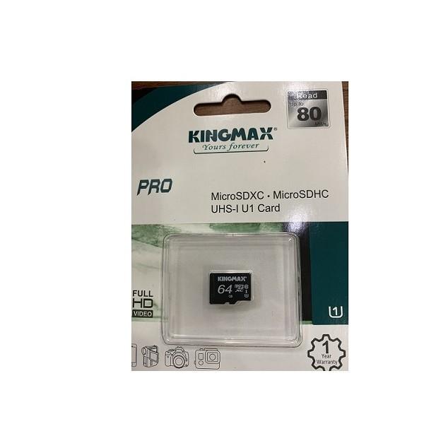 Thẻ nhớ KINGMAX KM64GMCSDUHSP 64GB (Micro SD Pro Class 10)
